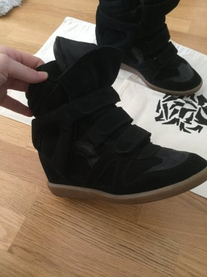 Isabel Marant Sneaker con zeppa nero Pelle