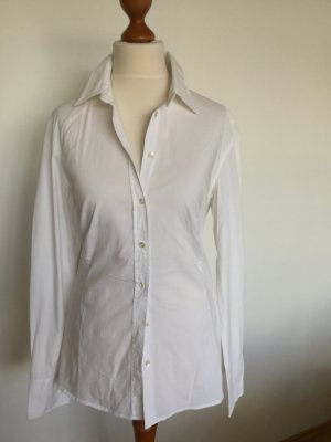 Klassiker, weiße Bluse mit Elasthan von Cinque