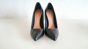 Klassisch elegante schwarze Lederpumps, Gr.36