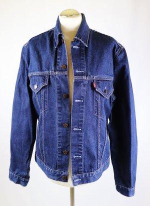 Klassisch Jeans Jacke Levis Größe XL 42 Dark Blue Denim Blau Dunkelblau Blouson Levi Strauss & Co Biker Trucker Boyfriend Oversize