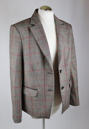 Klassisch Karo Blazer Jacke Esprit Größe XL 44 Braun Grau Rot Glencheck Business Jacke Büro Boyfriend
