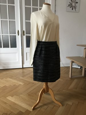 Hallhuber Flared Skirt black-light grey polyacrylic