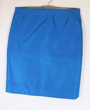 KRISS Zijden rok staalblauw-blauw Zijde
