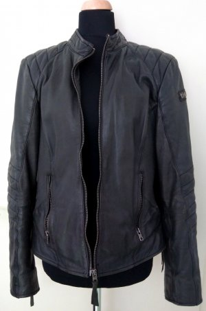 Tigha Biker Jacket anthracite-dark grey leather