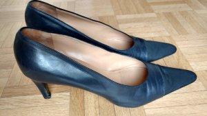 Klassische blau-schwarze Leder Pumps von Eduard Meier Gr 41