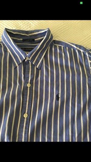 Klassische, blau-weiß gestreifte Bluse von Ralph Lauren Sport, Slim fit in Größe 12