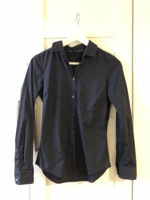klassische Bluse dunkelblau von Zara