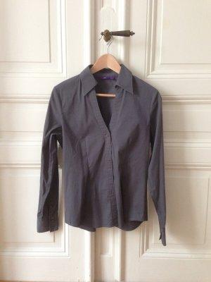 Klassische Bluse grau