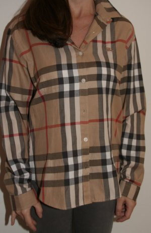 Klassische Burberry London Bluse im Brit-Muster in L / XL