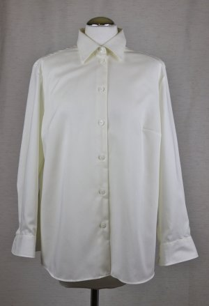 Klassische Damen Hemd Bluse Walbusch Größe 40 42 L Offwhite Cremeweiß Landhaus Trachten Business androgyn Kofferkleid