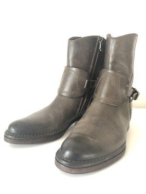 Alberto Fermani Low boot gris vert-argenté cuir