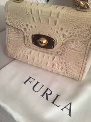 Klassische Furla Tasche & Original Staubbeutel, wunderschönes Leder strukturiert