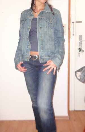 H&M L.O.G.G. Veste en jean multicolore coton