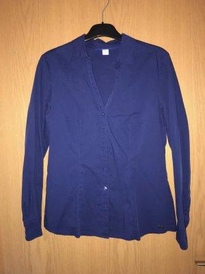 Klassische Hemdbluse Blau von S. Oliver Gr. 40
