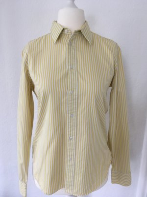 Klassische Hemdbluse von Ralph Lauren in gelb-weiß gestreift - Größe 42