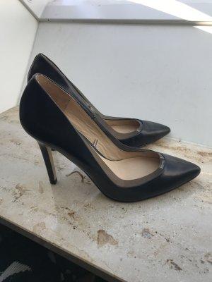 Zara Talons hauts noir cuir