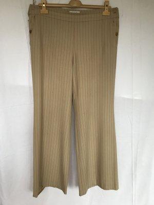 Chanel Pantalone jersey beige-rosso chiaro Lana