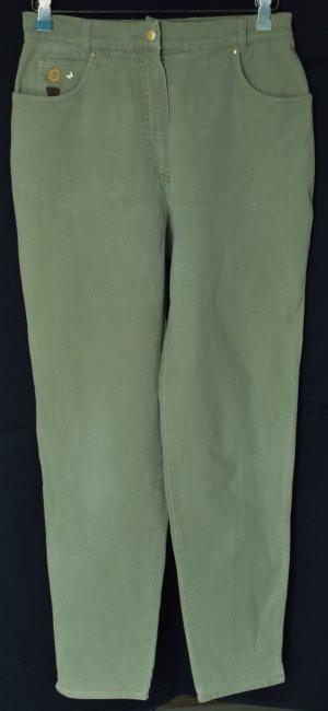 Polo Sport Hoge taille jeans grijs-groen Katoen