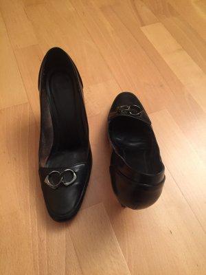 Klassische Lederpumps von Boss in schwarz & Gr. 38 - 38,5