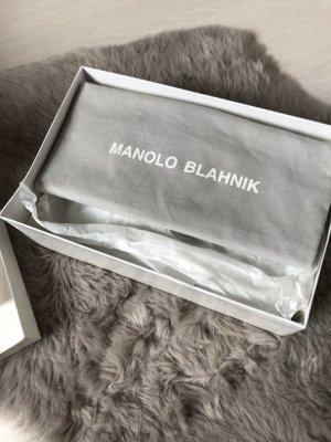 Manolo Blahnik Tacco alto nero Pelle
