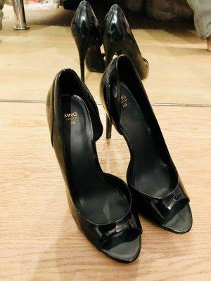 Klassische Peep Toes in schwarz