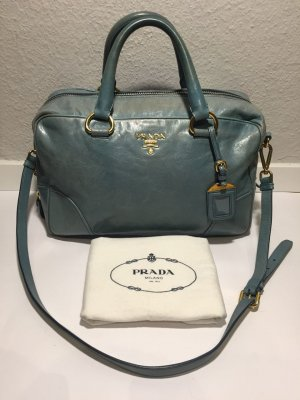 Prada Handbag cadet blue leather