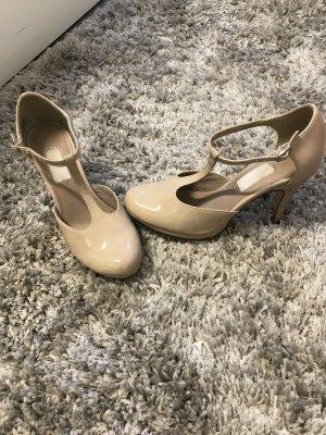 Tamaris Zapatos de tacón con barra en T crema