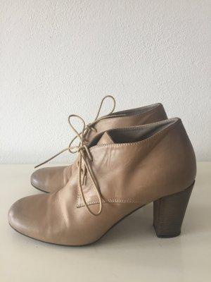 Klassische Schnürpumps / Mary Poppins / Leder beige / Size 39