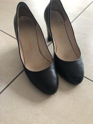 Chaussure décontractée noir cuir