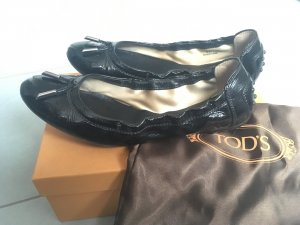 Tod's Patent Leather Ballerinas black