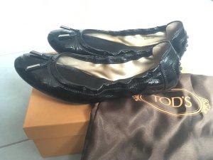 Klassische schwarze Lack Ballerinas von TOD's