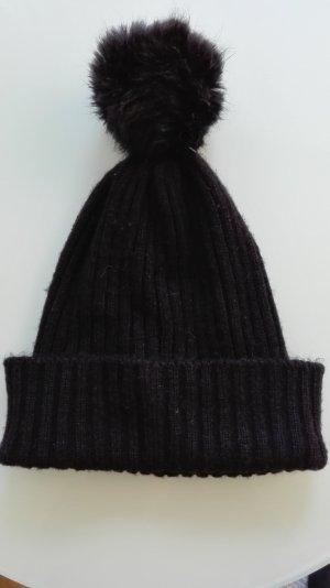 Pimkie Gorro con borla negro Acrílico