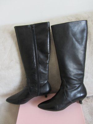 Evita Heel Boots black leather