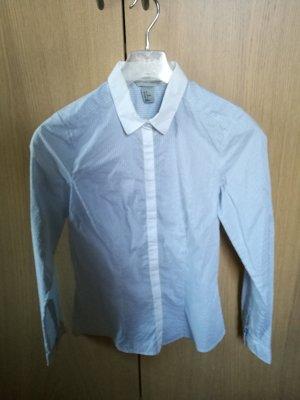 Klassische Streifen Bluse blau weiß