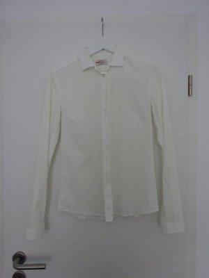 klassische weiße PRADA Bluse