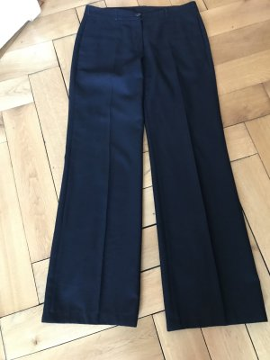 Burberry Woolen Trousers black wool