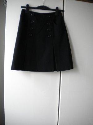 Klassischer A-Linien Rock von Hallhuber schwarz Gr.34/36 Knöpfe