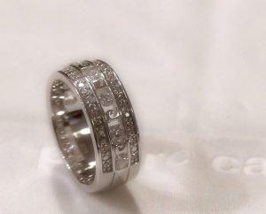 Klassischer Bandring 925 Sterling Silber,  mit weißen Zirkonia - Pierre Cardin