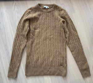 Barbour Jersey trenzado coñac-marrón