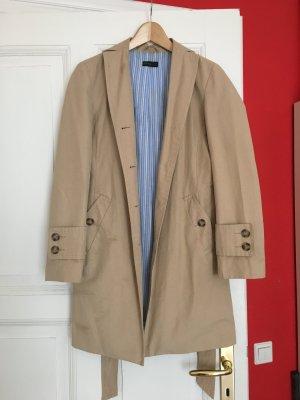 Klassischer beiger Trenchcoat-Mantel von Benetton