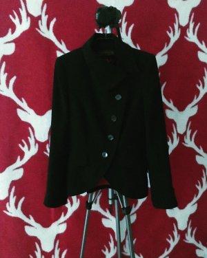 klassischer blazer / asymmetrischer verschluss / black / schwarz / vintage