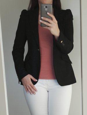 Klassischer Blazer schwarz / ZARA / Business / langer Blazer / Größe 38