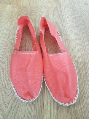 Espadrij Espadrille Sandals raspberry-red cotton