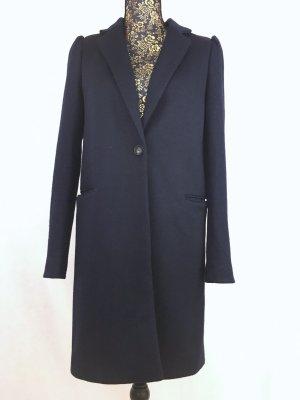 Mango Manteau en laine bleu foncé