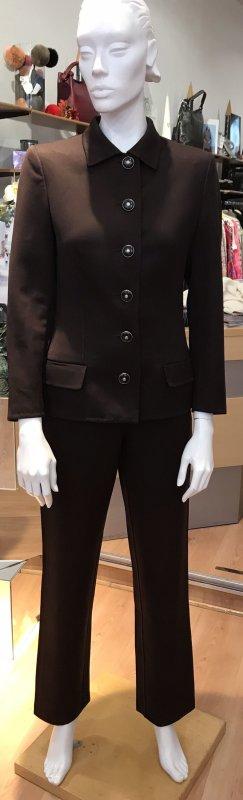 Gianni Versace Traje de pantalón marrón oscuro