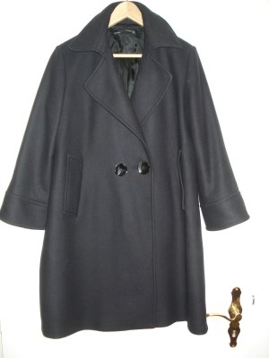 Zara Woman Short Coat dark blue wool