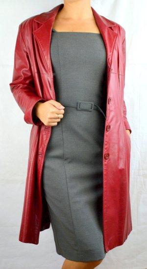 Klassischer Ledermantel Rot
