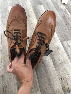 Massimo Dutti Moccasins cognac-coloured leather