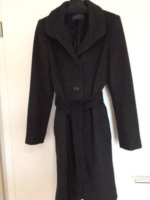 Esprit Abrigo corto gris-gris oscuro tejido mezclado