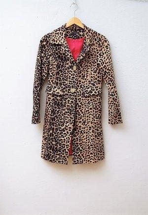 Klassischer Mantel mit Leoparden-Print